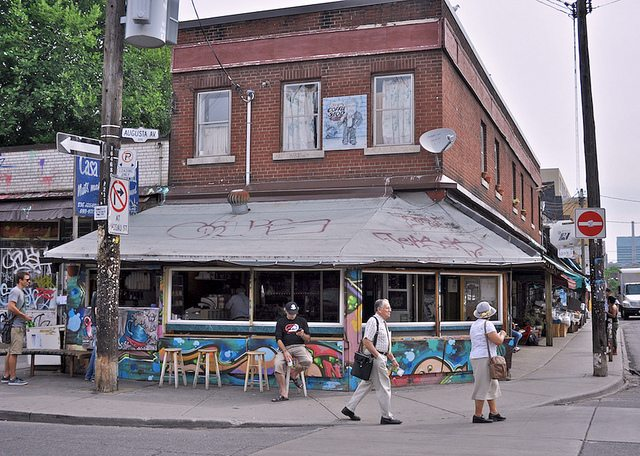 Casa Acoreana, at the corner of Augusta Avenue and Baldwin Street  Photo by Uncle Lynx, from the Torontoist Flickr Pool