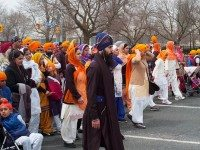 Sikhs march through the downtown core on Khalsa Day. Photo by j-riviere, from the Torontoist Flickr Pool.
