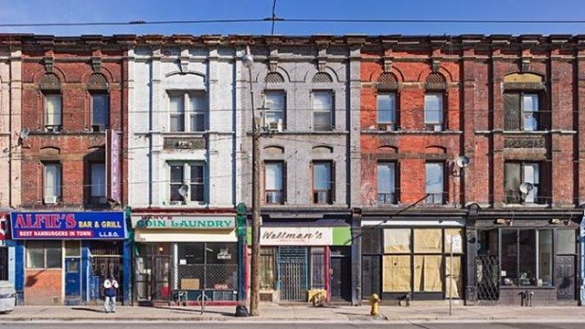 Early Sunday Morning showcases Toronto's colourful, and disappearing, heritage streetscapes  Photo by David Kaufman