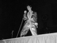 Presley on-stage during the 6 p.m. show at Maple Leaf Gardens, from the York University Libraries, Clara Thomas Archives & Special Collections, Toronto Telegram fonds, F0433, ASC00845.