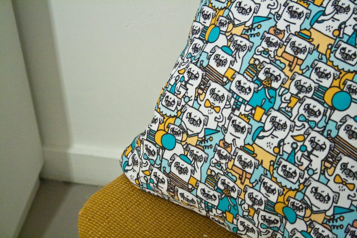 A pugerrific pillow print.