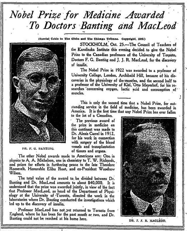 Front page, the Globe, October 26, 1923