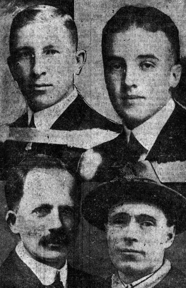 Clockwise from top left: Frederick Banting, Charles Best, J B  Collip, and J J R  Macleod  Presumably the image that originally appeared on the front page of the March 22, 1922 edition of the Toronto Star, this version comes from the March 26, 1922 edition of Star Weekly