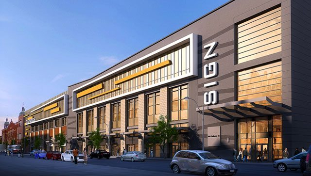 rendering of the proposed shopping centre. Image courtesy of Turner