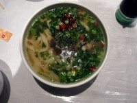 Lamb and noodle soup, from Silk Road. Photo by Sarah Efron.