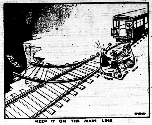 Cartoon, the Telegram, August 21, 1958