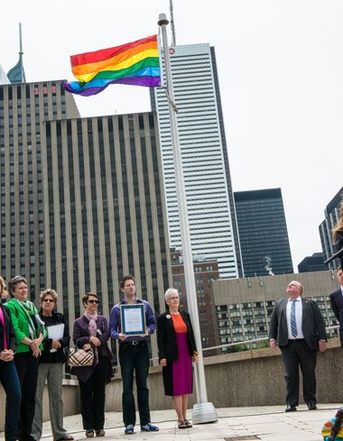 20130517 PFLAG Flag Raising at Toronto City Hall 2013 028 78  Photo by Corbin Smith