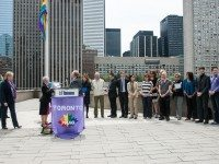 20130517-PFLAG Flag Raising at Toronto City Ha