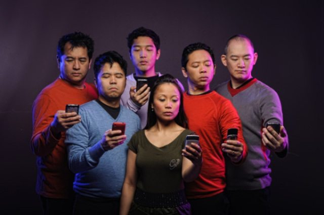Jeff, Gene, Franco, Lana, Byron, and James à la Star Trek: The Text Generation  Photo courtesy of Asiansploitation