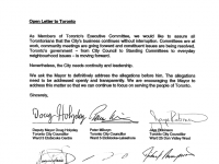 Open Letter to Toronto - May 24, 2013