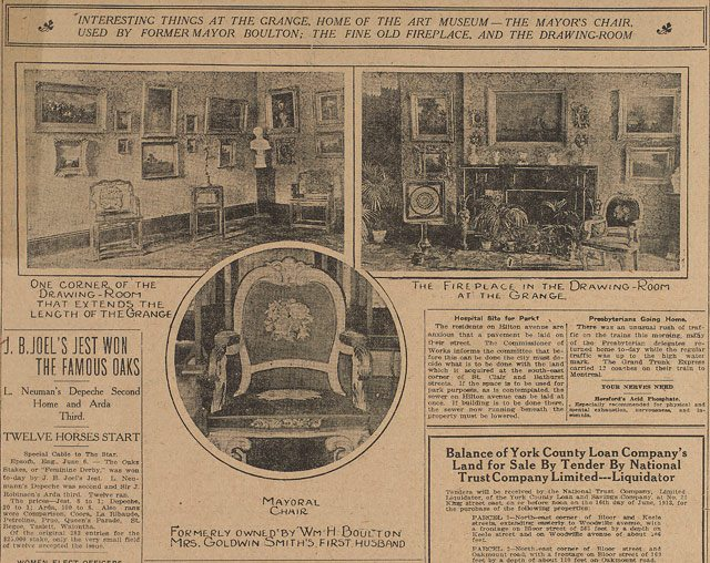 Source: the Toronto Star, June 6, 1913  Image courtesy of the Art Gallery of Ontario