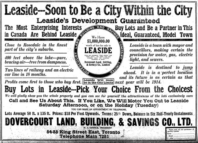 Advertisement, the Toronto Star, June 27, 1913