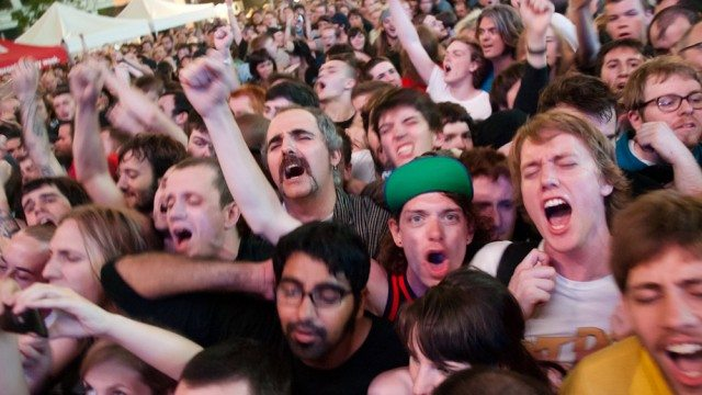 Fans in Yonge-Dundas Square during NXNE 2011. You too could be this stoked.