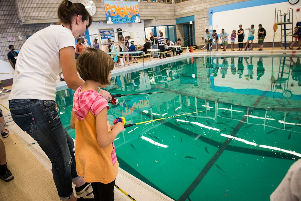 scadding courts swimming pool is now a fishing hole - Cool Indoor Pools With Fish