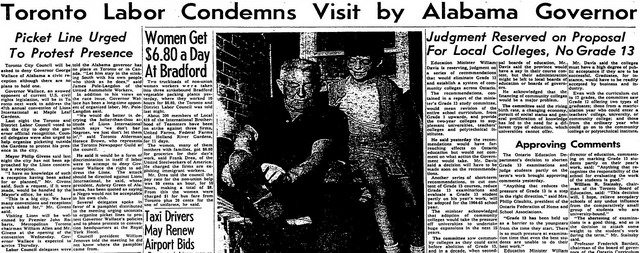 Article from the Globe and Mail (July 3, 1964)