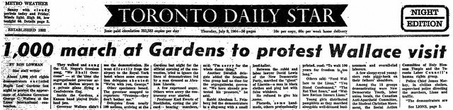 Coverage from the Toronto Star (July 9, 1964)