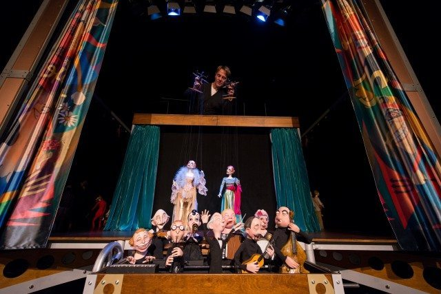 Puppeteer Ronnie Burkett plays with an assortment of marionettes old and new  in his nightly cabaret show, The Daisy Theatre. Photo courtesy of Luminato.