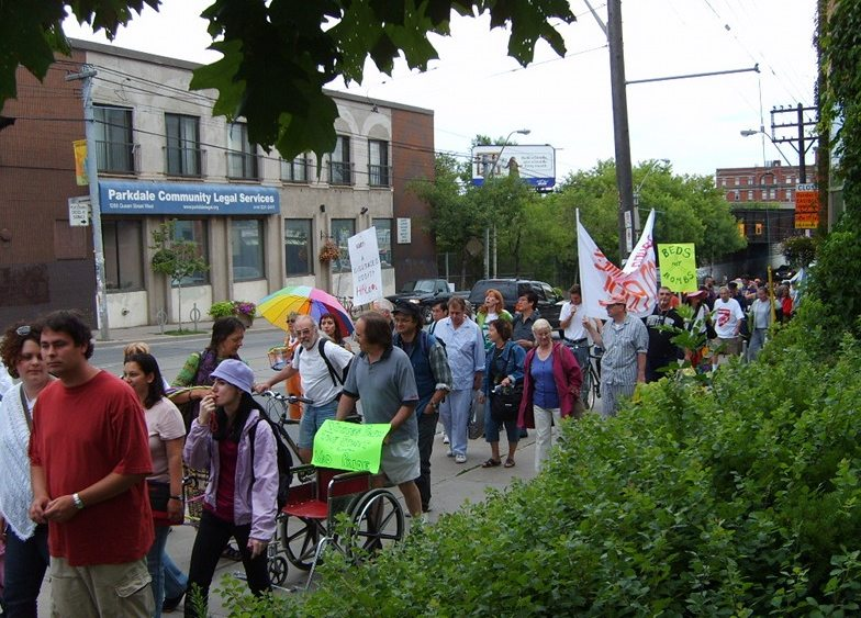 2007 Mad Pride marchers in Parkdale. Photo courtesy Mad Pride/Sound Times.