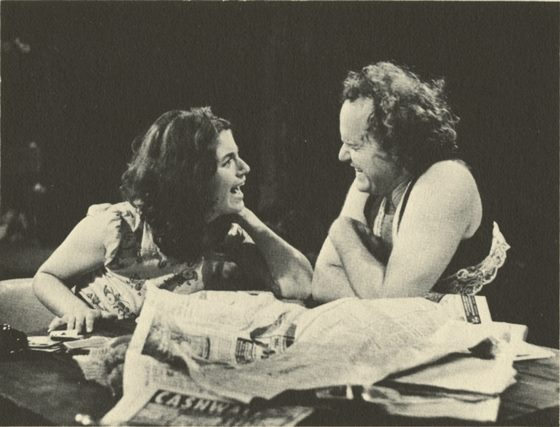 "Diane D'Aquila and Willaim Webster in 1973's Clear Light, which was shut down by Toronto's ""Morality Squad."" Photo by Michel Lambeth."