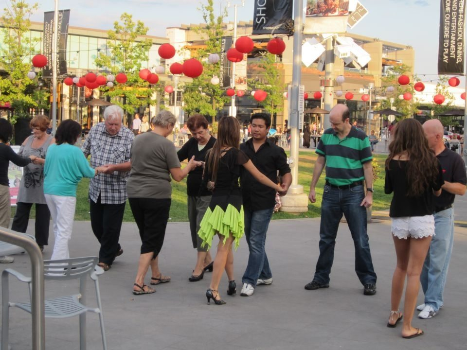 Go shopping for dancing shoes, and then put them to use in the Town Square. Photo courtesy of the Shops at Don Mills.