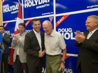Photo of Doug Holyday and Tim Hudak from facebook.