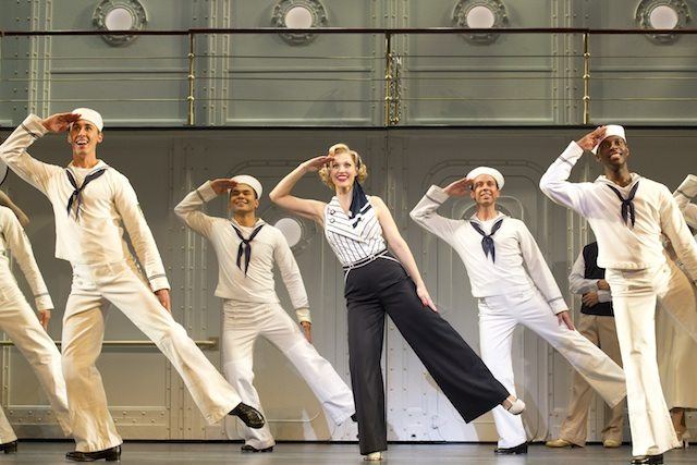 Rachel York and a bunch of dancing sailors in Roundabout Theatre Company's Anything Goes, presented by Mirvish Productions. Photo by Joan Marcus.