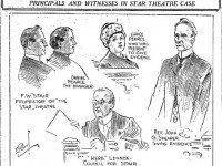 Major figures at the trail of Stair and Pearce.  Toronto Star, January 11, 1913.