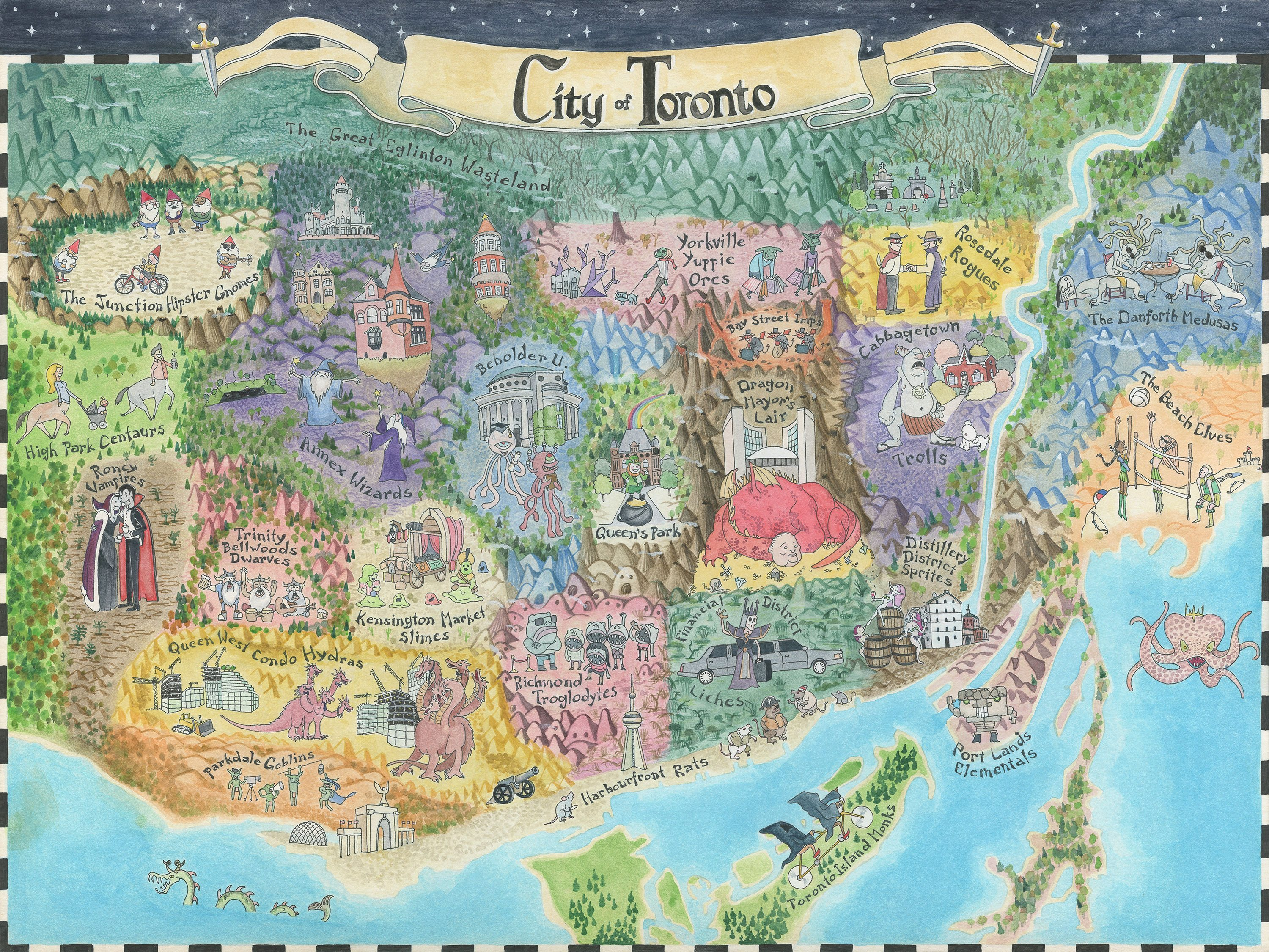 Look at this Fantasy Map of Toronto