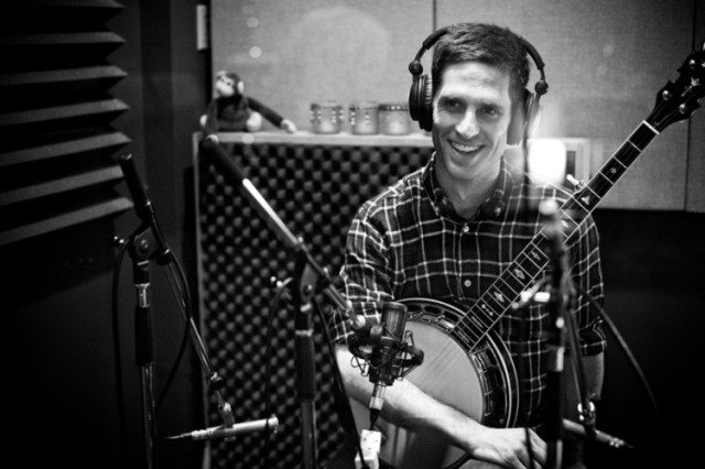 Banjo prodigy Jayme Stone in the studio. Photo courtesy of Jayme Stone.