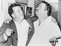 Photo of Brendan Behan and Jackie Gleason in New York, 1960, from Wikimedia Commons.