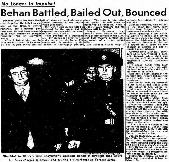 Article from the Globe and Mail (March 23, 1961)
