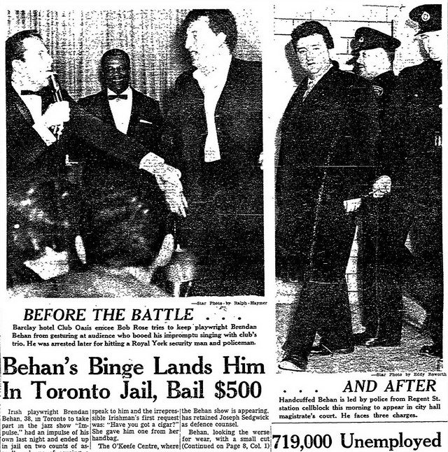 Front Page of the Toronto Star (March 22, 1961)