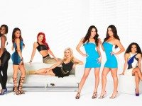 The cast of Total Divas. Not pictured: AJ Lee, the only female wrestler who actually makes money for the WWE and therefore is too important for this reality show.