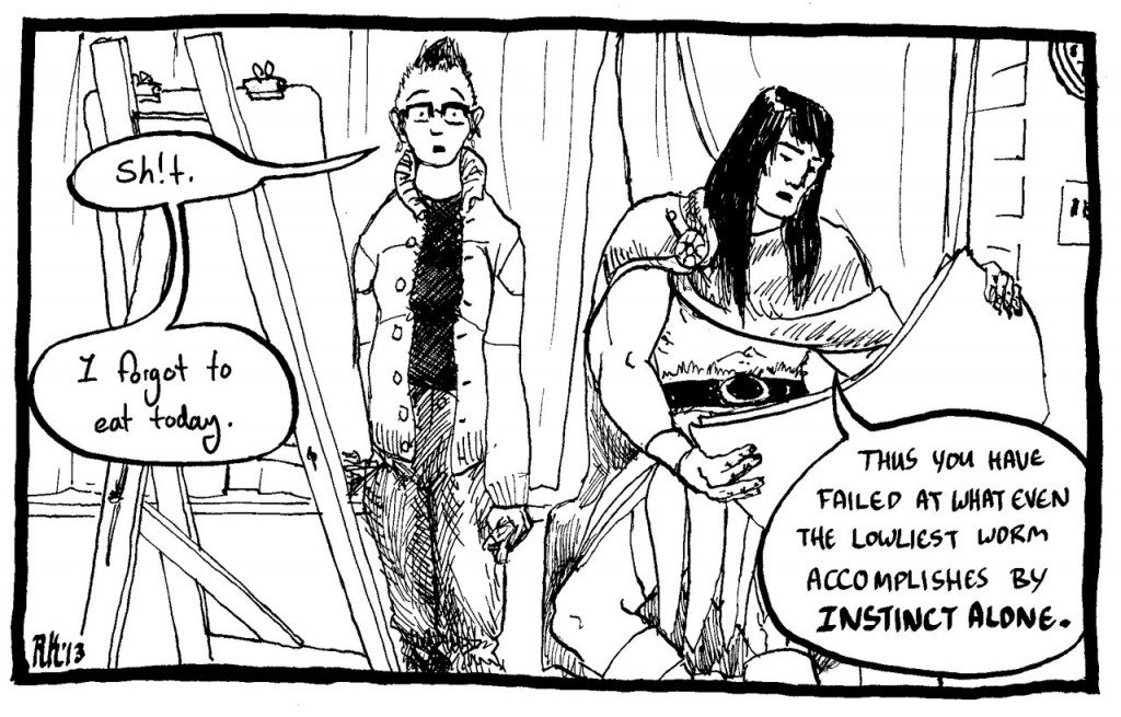 A panel from By Crom! Image by Rachel Kahn