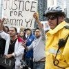 Protest last year against the shooting of Sammy Yatim.