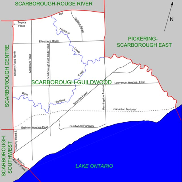 scarborough guildwood map