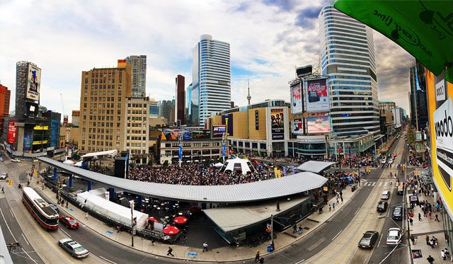 Yonge Dundas Square, June 2009  Photo by Michael Tan from the Torontoist Flickr Pool