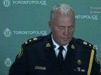 Police Chief Bill Blair at today's press conference.