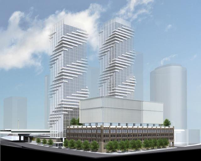 Rendering of proposed development for Loblaw Groceterias site, as prepared by architectsAlliance