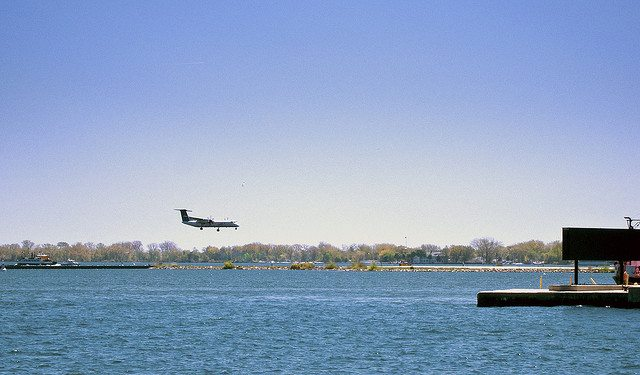 A Porter turboprop lands at Billy Bishop Airport  Photo by Still The Oldie, from the Torontoist Flickr Pool