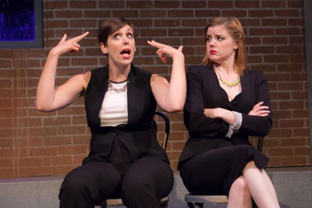 Allison Price, about to lose her patience with Stacey McGunnigle. Photo courtesy of Second City.