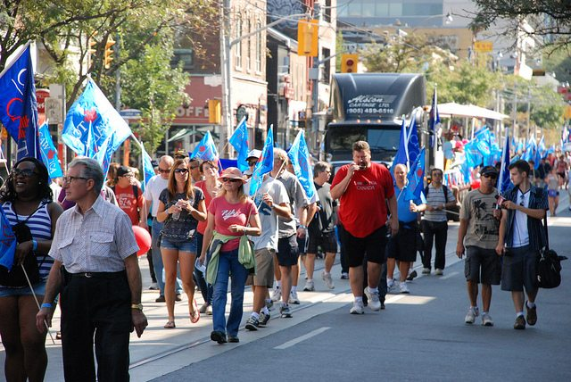 The Labour Day parade. Photo courtesy of CAW Media.