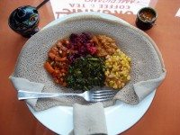 A vegetarian platter from Keeffaa. Photo by Sarah Efron.
