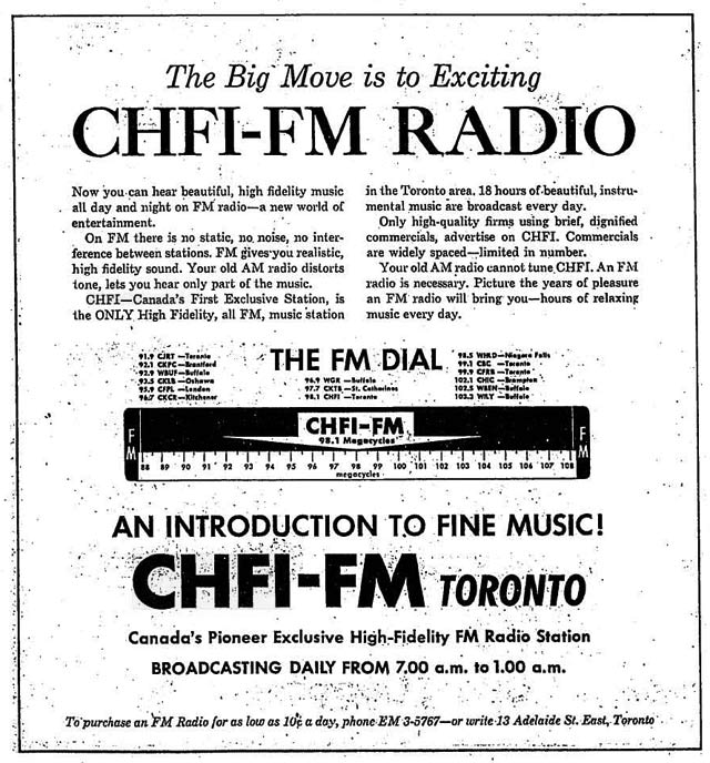 Advertisement, the Globe and Mail, December 17, 1960