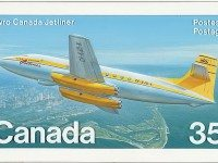 Canada Post stamp depicting the Avro Canada C-102 Jetliner, 1981, from Library and Archives Canada.