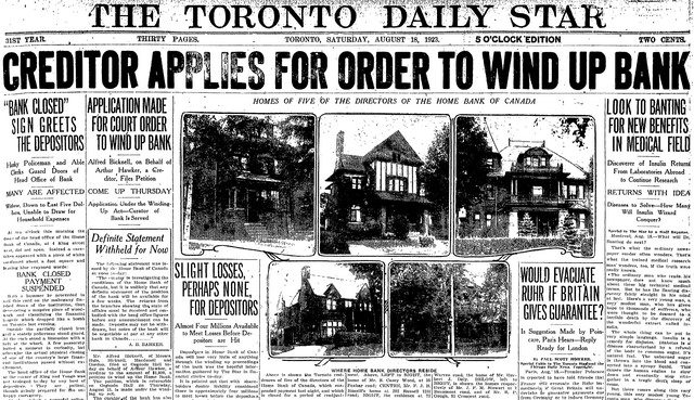 Coverage from the Toronto Star (August 18, 1923)