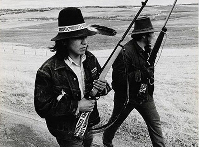 American Indian Movement: Lakota Indians, Wounded Knee, South Dakota, 1973. Photo by Michael L. Abramson.
