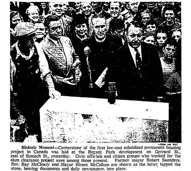 Front page photo, the Globe and Mail, September 30, 1948
