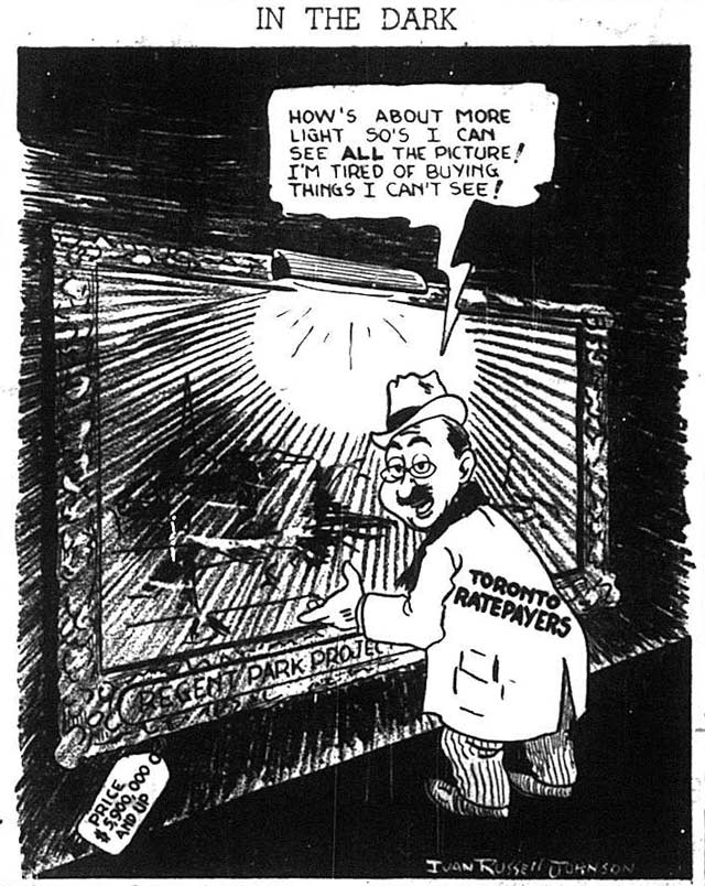 Cartoon by Ivan Russell Johnson, the Telegram, December 20, 1946