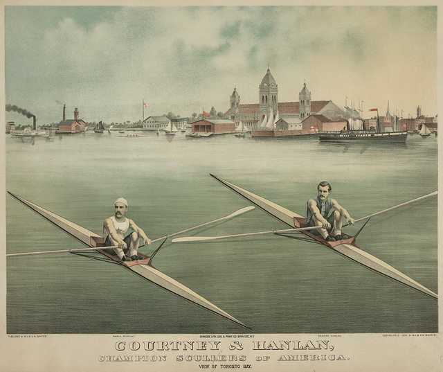 Charles Courtney & Edward Hanlan, Champion Scullers of America  From the Library of Congress